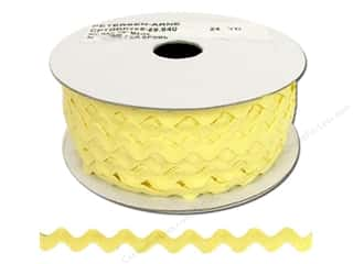 Trims Ribbon Work: Ric Rac by Cheep Trims  1/2 in. Maize (24 yards)