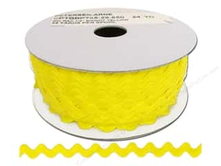 Ribbon Work Tapes: Ric Rac by Cheep Trims  1/2 in. Yellow (24 yards)