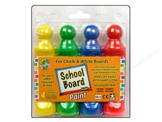 Dab'N Stic Glue School: Crafty Dab School Board Paint Chalk/White 4pc