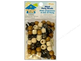 wood Beads: Sulyn Clubhouse Crafts Pony Beads Wood 90pc