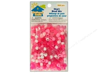 Kid Crafts Beads: Sulyn Clubhouse Crafts Bead Mix Heart 300pc