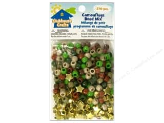Kids Crafts Beading & Jewelry Making Supplies: Sulyn Clubhouse Crafts Bead Mix Camouflage 270pc