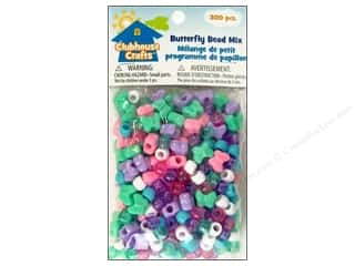 Kids Crafts Beading & Jewelry Making Supplies: Sulyn Clubhouse Crafts Bead Mix Butterfly 300pc