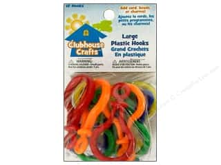 Sulyn Clubhouse Crafts Plastic Hooks Lg Multi 12pc