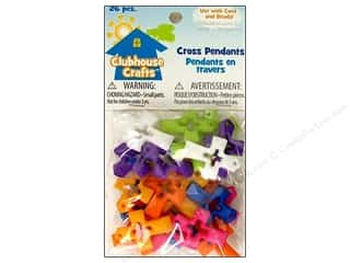 Sulyn Clubhouse Crafts Cross Pendants Multi 26pc