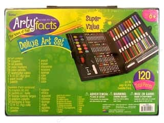 Crayons: Darice Art Set Deluxe In Plastic Case 120pc