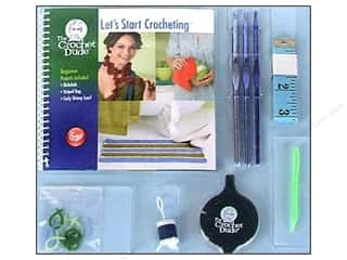 Yarn, Knitting, Crochet & Plastic Canvas Boye Needle Company: The Crochet Dude Starter Crochet Kit - Let's Start Crocheting
