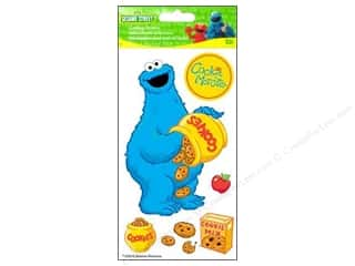 EK Sesame Street Sticker 3D Lg Cookie Monster Jar