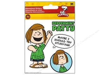 Stickers $3 - $4: EK Peanuts Stickers 3D Peppermint Patty