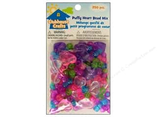pony bead: Sulyn Clubhouse Crafts Bead Mix Puffy Heart 250pc