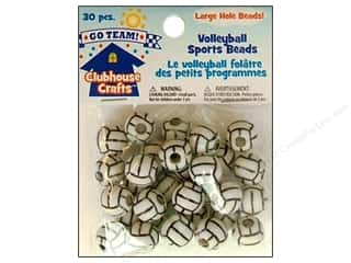 Sports Beading & Jewelry Making Supplies: Sulyn Clubhouse Crafts Sports Beads Volleyball 30pc