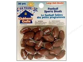 Kids Crafts Beading & Jewelry Making Supplies: Sulyn Clubhouse Crafts Sports Beads Football 30pc