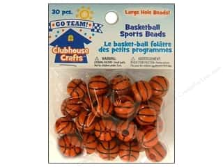 Kids Crafts Beading & Jewelry Making Supplies: Sulyn Clubhouse Crafts Sports Beads Basketball 30pc