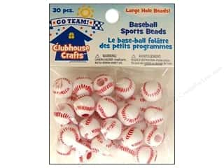 Weekly Specials Beading & Jewelry Making Supplies: Sulyn Clubhouse Crafts Sports Beads Baseball 30pc