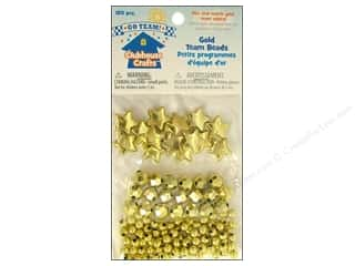 Clearance Blumenthal Favorite Findings: Sulyn Clubhouse Crafts Team Beads Gold 120pc