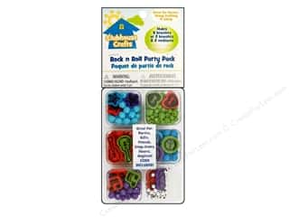 Hearts & Crafts Cork Rolls: Sulyn Clubhouse Crafts Beads Party Pack Rock/Roll