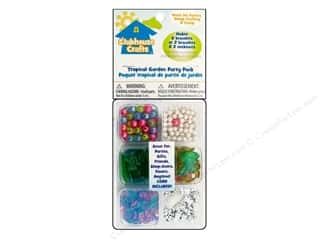 Party Supplies Green: Sulyn Clubhouse Crafts Beads Party Pack Tropical Garden
