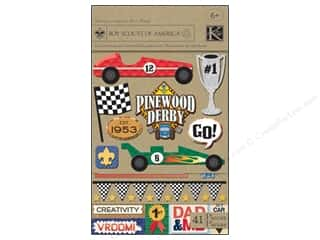 phrase stickers: K&amp;Co Sticker Flip Pack Boy Scouts Pinewood Derby