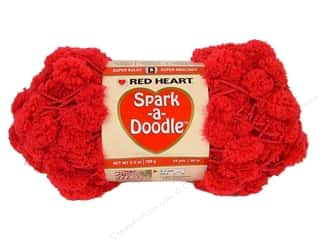 Clearance TLC Essentials Yarn: C&C Red Heart Spark A Doodle Yarn 3.5oz Reddy