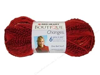 Yarn & Needlework Summer Fun: Red Heart Boutique Changes Yarn 3.5 oz. Ruby