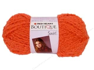 C&amp;C Red Heart Boutique Swirl Yarn 3oz Tangerine