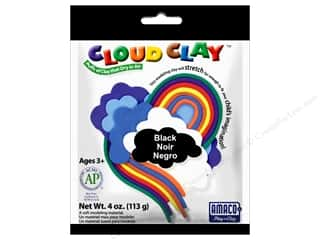 Clay & Modeling New: AMACO Cloud Clay 4 oz. Black