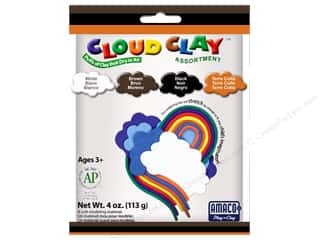 Clay & Modeling New: AMACO Cloud Clay Assortment #1 Black, Brown, Terra Cotta and White