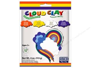 Molds 2 oz: AMACO Cloud Clay Assortment #2 Orange, Yellow, Purple and White