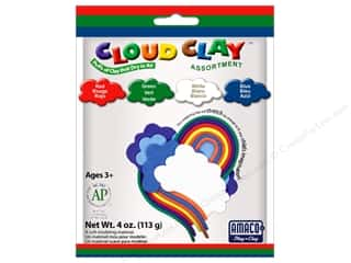 Clay & Modeling New: AMACO Cloud Clay Assortment #3 Red, Blue, Green and White