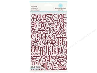 Stickers ABC & 123: Martha Stewart Sticker Alphabet Glitter Large Pink