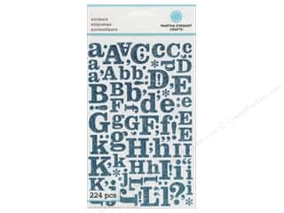 Martha Stewart Sticker Alphabet Glitter Large Blue