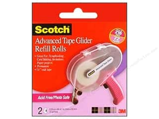 "Glues, Adhesives & Tapes Scotch Tape: Scotch Advanced Tape Glider Refill .25""x 36yd Acid Free 2pc"