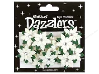 Petaloo Sticker Dazzlers Holiday Wntr Poinsettias