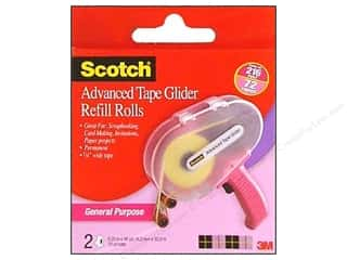 "Roll Tape: Scotch Advanced Tape Glider Refill .25""x 36yd General Purpose 2pc"