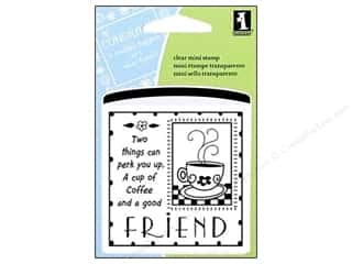 Clearance Plaid Stamps Clear: Inkadinkado InkadinkaClings Clear Stamp Mini Good Friends