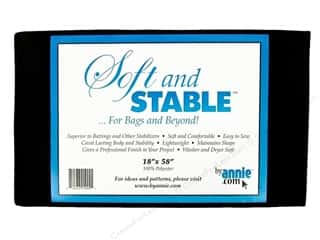 fusible batting: By Annie Soft And Stable Stabilizer 18 x 58 in. Black