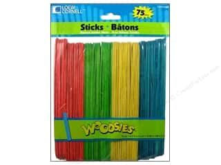 Loew Cornell Green: Woodsies Craft Sticks Jumbo 75 pc. Colored