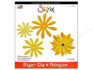 Magnets Flowers: Sizzix Bigz Die Flower Daisies by Stu Kilgour