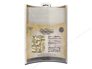 Sizzix Texture Fades Embossing Folders 2PK Postcard & Sheet Music