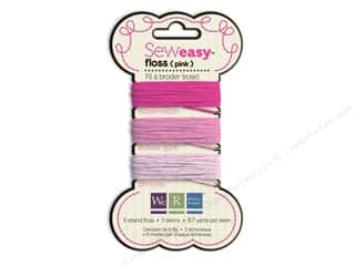 We R Memory Sew Easy Floss 3 Assorted Pink 26yd