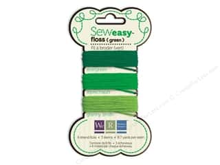 We R Memory Sew Easy Floss 3 Assorted Green 26yd