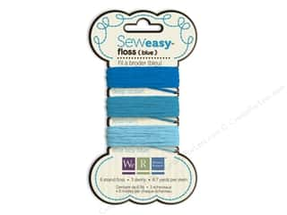 We R Memory Keepers Ribbons / Fabrics / Threads / Cords: We R Memory Sew Easy Floss 3 Assorted Blue 26yd