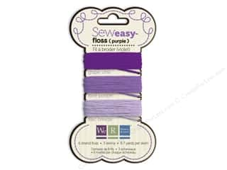 We R Memory Sew Easy Floss 3 Assorted Purple 26yd