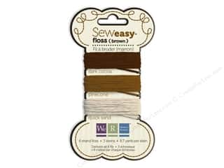 We R Memory Sew Easy Floss 3 Assorted Brown 26yd