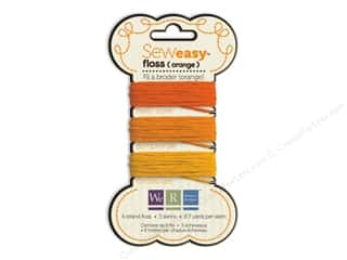 We R Memory Sew Easy Floss 3 Assorted Orange 26yd