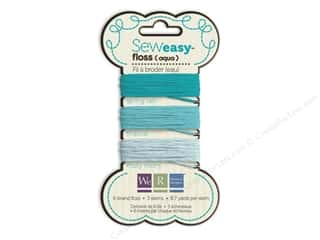 We R Memory Sew Easy Floss 3 Assorted Aqua 26yd