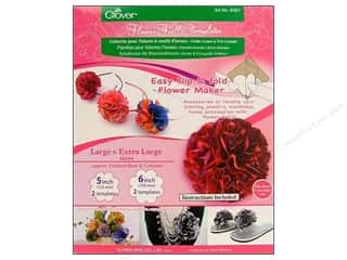Clearance Blumenthal Favorite Findings: Clover Flower Frill Template Large & Extra Large