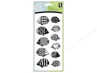 Inkadinkado Clear Stamp Patterned Fish