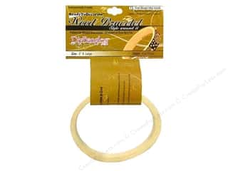 "DIY Ready To Decorate Bangle Wood Oval 1"" X Large"