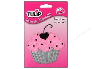 Tulip Iron On Applique Medium Cupcake